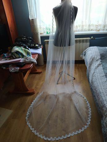 OKAZJA Nowy Welon długi 250cm z grzebykiem