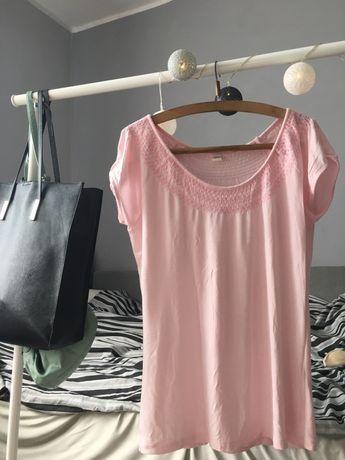 Pudrowy róż T-shirt L/XL/XXL rozciągliwy