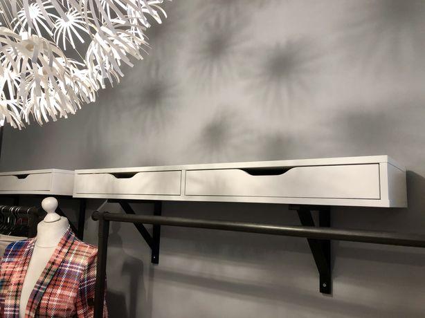 119/29 EKBY ALEX plus WSporniki IKEA 4 sztuki Półka z szufladami