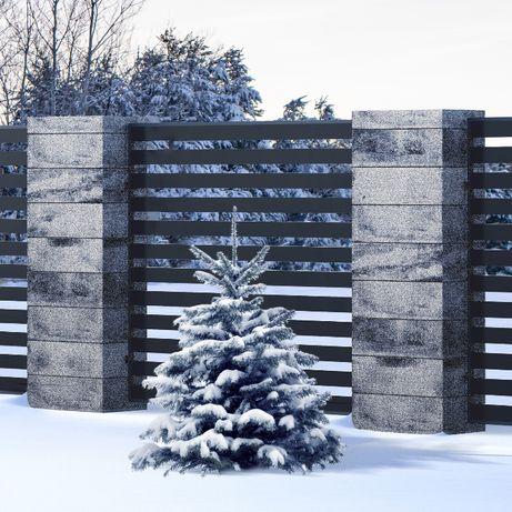 Ogrodzenie systemowe z bloczków, pustaki ogrodzeniowe - daszki