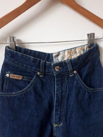 Niebieskie Jeansy z wysokim stanem
