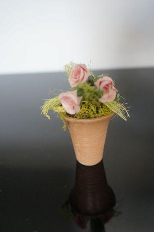 Mini kwiatki małe ozdoba dekoracja do kolekcji