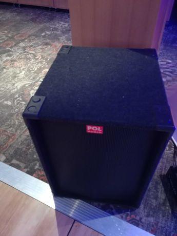 Kolumna basowa Pol Audio SW 118 pokrowiec i kabel