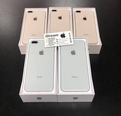 iPhone 8 Plus 64 /256 gb Gold / Silver Neverlock ИДЕАЛы ! ГАРАНТИЯ!