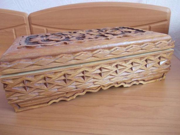 Новая шкатулка деревянная ручной работы