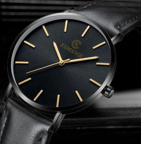Przepiękny Stylowy Ultra-Cienki Męski Zegarek