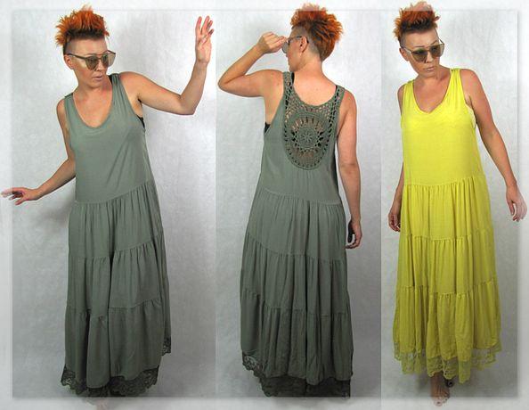 Nowość włoska wyjątkowa sukienka maxi oversize L XL XXL %%%