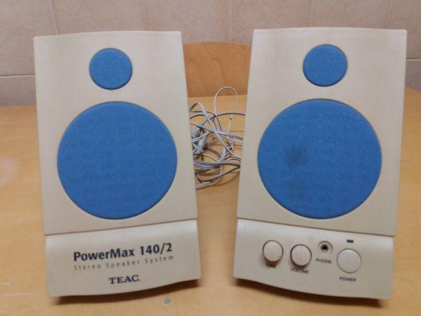 Colunas de som TEAC PowerMax 140 RMS 2x4.5Watt