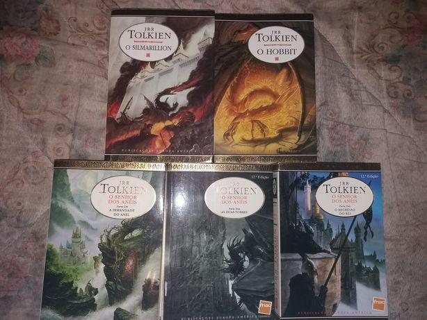 Coleção rara de 5 livros De J.R.R Tolkien