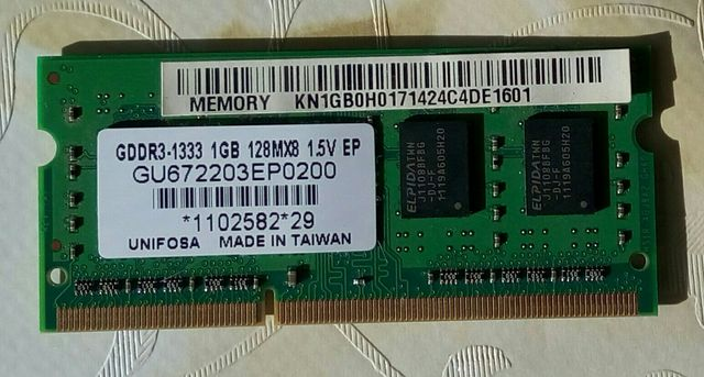 DDR3 1 гб для ноутбука