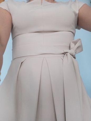 Sukienka beżowa r.36