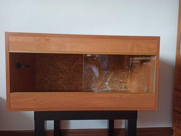 Terrarium dla jeża, węża, gekona, żółwia itp. 80x40x40cm
