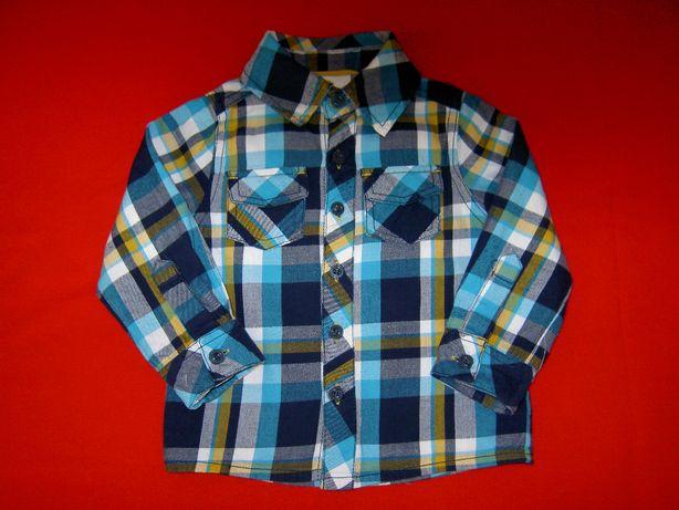 Rozpinana bluzka, koszula, koszulka dla chłopca rozmiar 80
