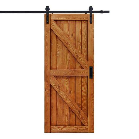 Drzwi Przesuwne Drewniane Barn Doors + System