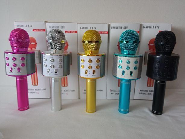 Microfone de Mão sem Fio Bluetooth Karaoke