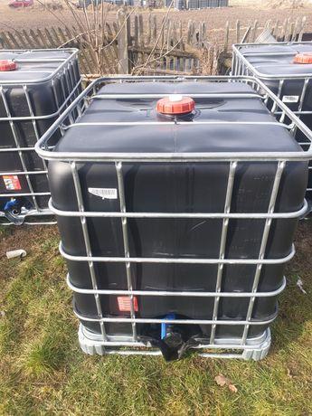 Zbiorniki mauser czarny 1000l Czysty mauser baniak na wode transport
