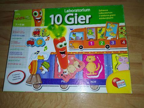 Laboratorium 10 gier clementoni, gra edukacyjna z marchewką