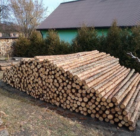 Stemple drewniane budowlane, żerdzie