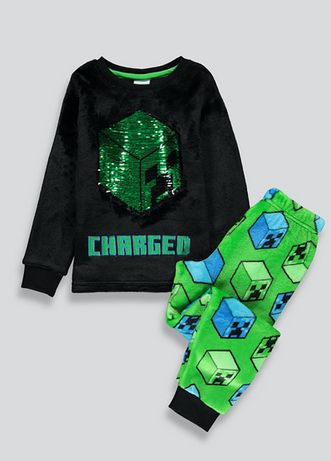 Polarowa piżama Minecraft magiczne cekiny 128cm 7-8l