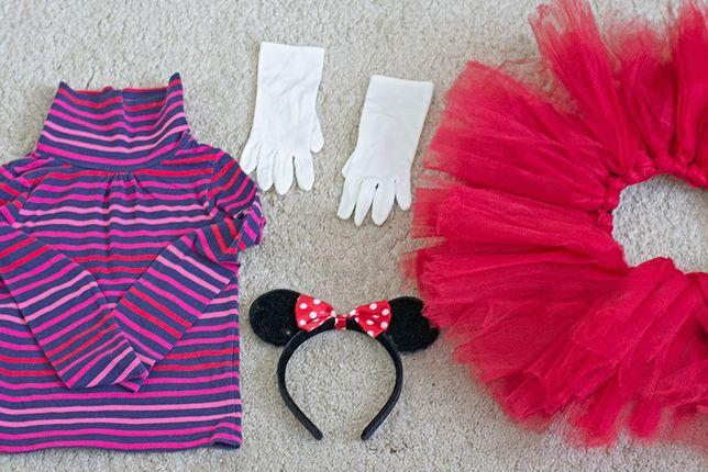 Myszka Minnie - kostium na bal przebierańców, dziewczynka 4-6 lat