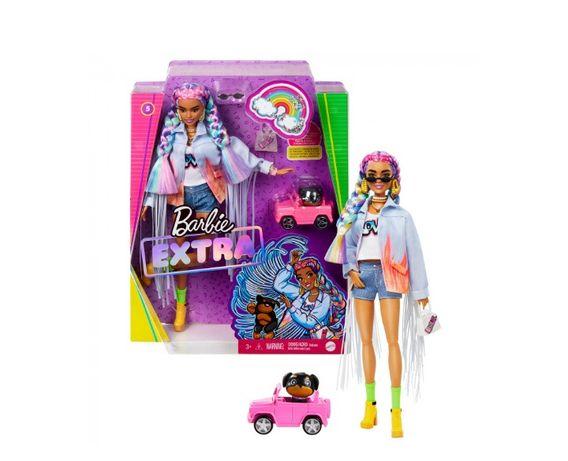 Кукла Барби Экстра Модница в джинсовой куртке с бахромой Barbie Extra