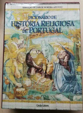 dicionário de história religiosa de portugal, círculo leitores, 4 vol