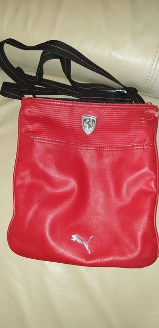 Listonoszka torebka Puma Ferrari czerwona