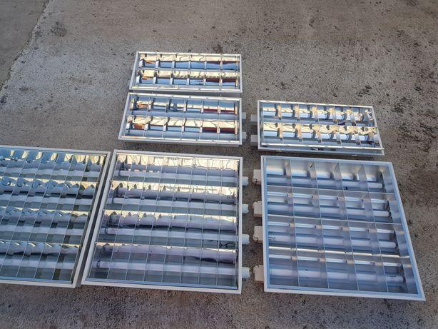 Lampy kasetonowe sufitowe podwieszane 60x60, 30x60