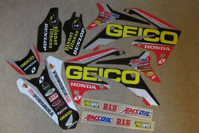 Kit autocolantes com capa banco Honda CRF 250/450