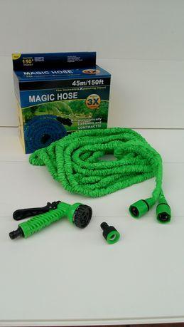 Шланг Magic Hose 45м. / шланг для полива / лейка в комплекте