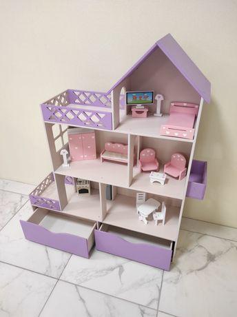 Домик для кукол Барби и Лол, домик для девочки, кукольный домик мдф