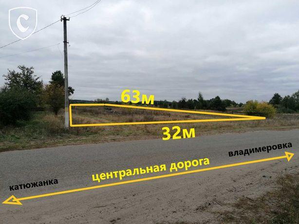 Фасадный участок 19 соток в Рудня-Дымерская