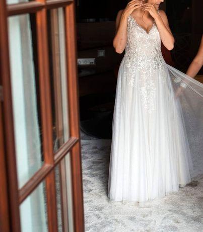 sprzedam piękną suknię ślubną w idealnym stanie