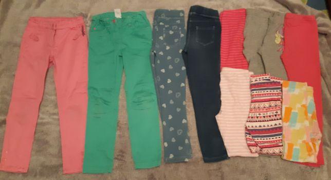 Spodnie, leginsy, tregginsy rozm. 110/116 dla dziewczynki