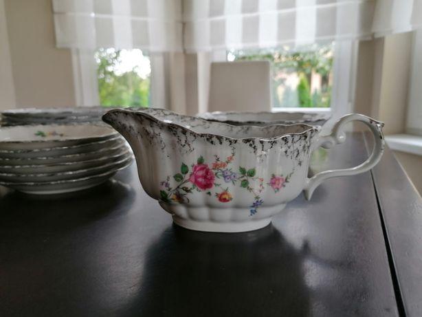 Piękny zestaw obiadowy 6 os. - porcelana Wałbrzych
