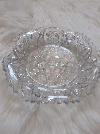 Piękny kryształowy półmisek misa patera kolekcja