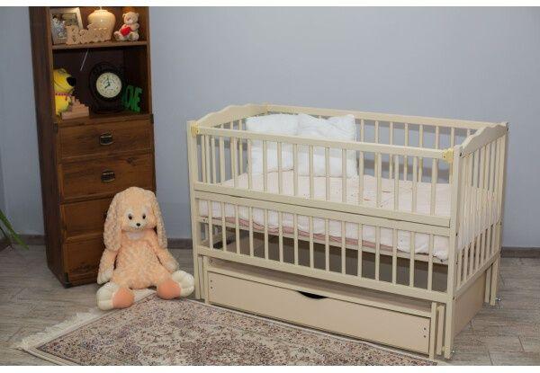 Детская Кроватка на Шарнирах с откидной боковиной и ящиком. В НАЛИЧИИ