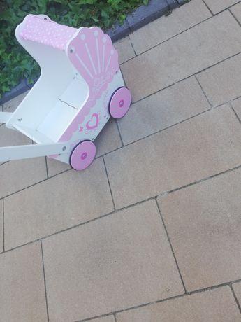 Wózek dla lalek drewniany uszkodzony