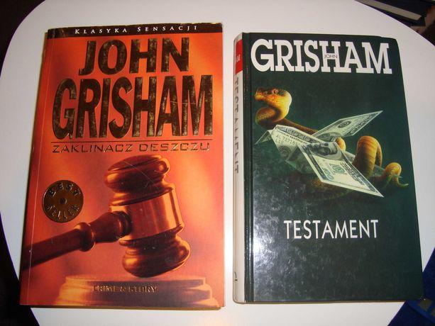 John Grisham x2 Zaklinacz Deszczu + Testament