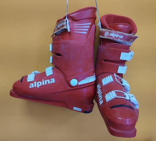 Горнолыжные ботинки Alpina + крепления Marker Twincam