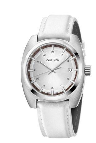 ОригинальныеЧАСЫ CALVIN KLEIN Мужские белые кварцевые швейцарские часы