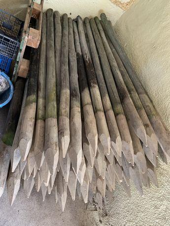 estacas tratadas para vedações já usadas, de 2,2 x 0,7-0,9
