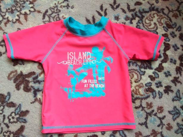 Солнцезащитная купальная футболка на девочку 86-92,для басейна,пляжная