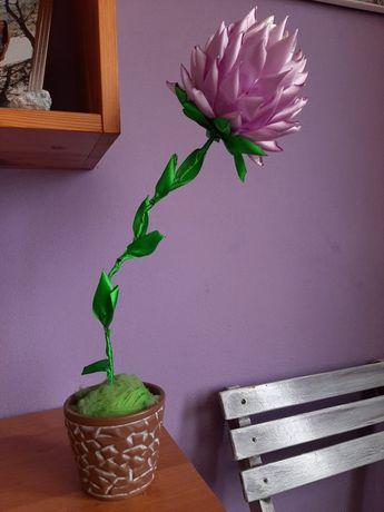 Kwiat w doniczce DIY/robiony ręcznie