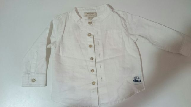 Biala koszula lniania 68
