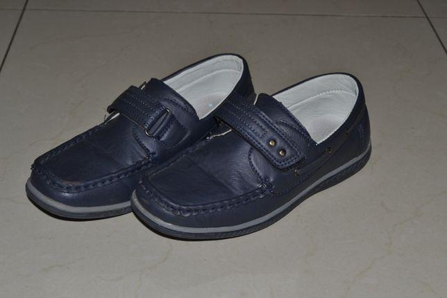 chłopięce buty wizytowe mokasyny r.36