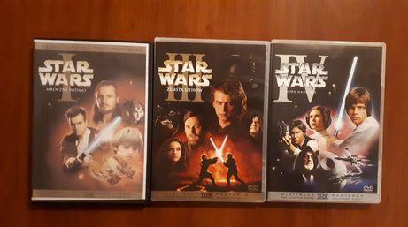 STAN IDEALNY - Filmy Star Wars (Gwiezdne Wojny) na DVD (40zł/szt.)