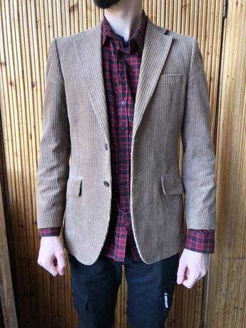 Вельветовый мужской пиджак H&M размер М