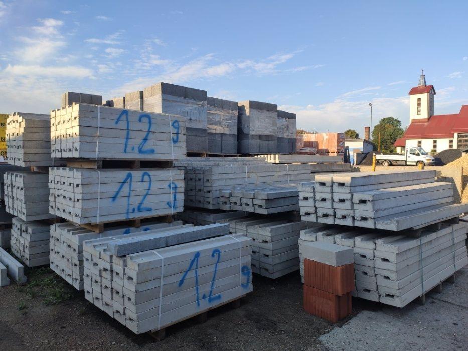Nadproża betonowe L, nadproża ceramiczne porotherm - dostawa