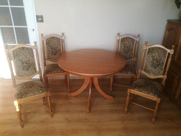 stol okragly rozkladany owal dab debowy drewno